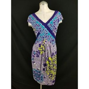 Adrianna Papell Size 4 Multi-Color Dress